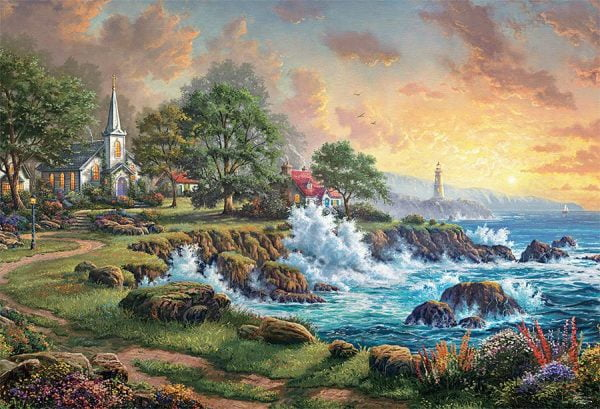 Thomas Kinkade - Seaside Haven 2000 Piece Puzzle