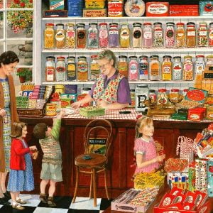 Times Past - The Sweet Shop 1000 Piece Puzzle