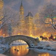 Winter in the Park 500 Piece Cobble Hill Puzzle