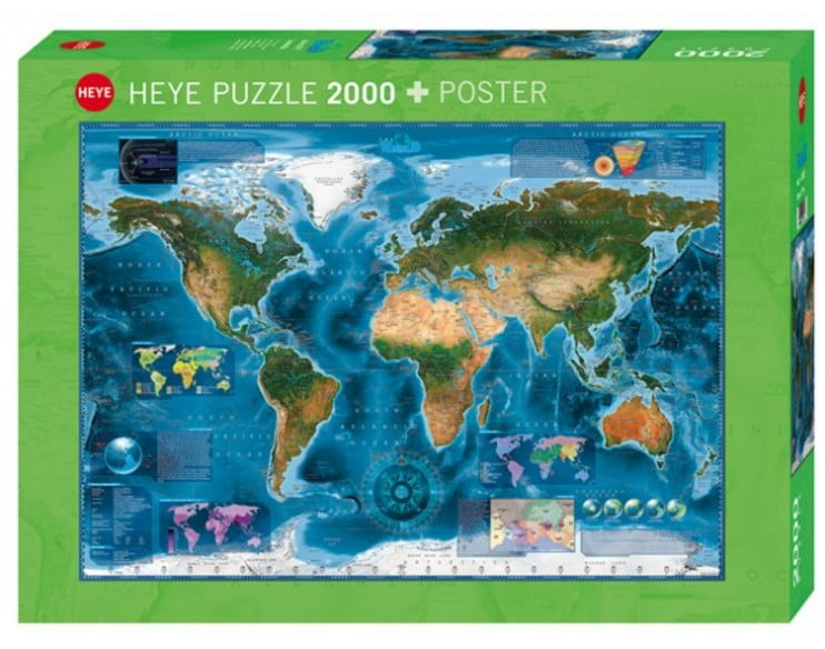Heye jigsaw puzzle at puzzle palace australia buy online today world satellite map 2000 piece heye jigsaw puzzle gumiabroncs Gallery