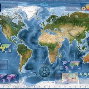 World Satellite Map Heye 2000 Piece Jigsaw Puzzle
