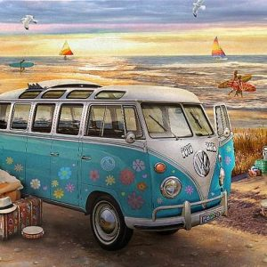 The Love & Hope VW Bus 1000 Piece Puzzle