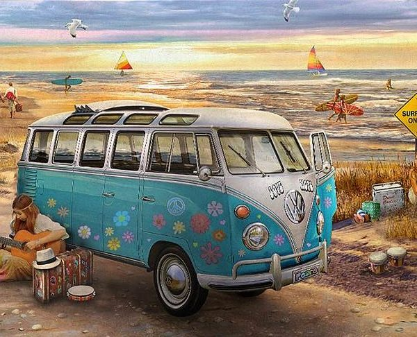 the love hope vw bus 1000 piece eurographics puzzle. Black Bedroom Furniture Sets. Home Design Ideas