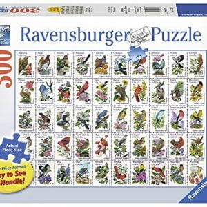 50 Bird Stamps 300 Large Piece Puzzle