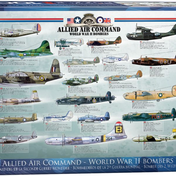Allied Air Command – Word War II Bombers 1000 Piece Puzzle