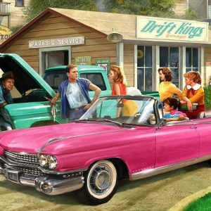 American Classics - The Pink Caddy 1000 Piece Jigsaw Puzzle