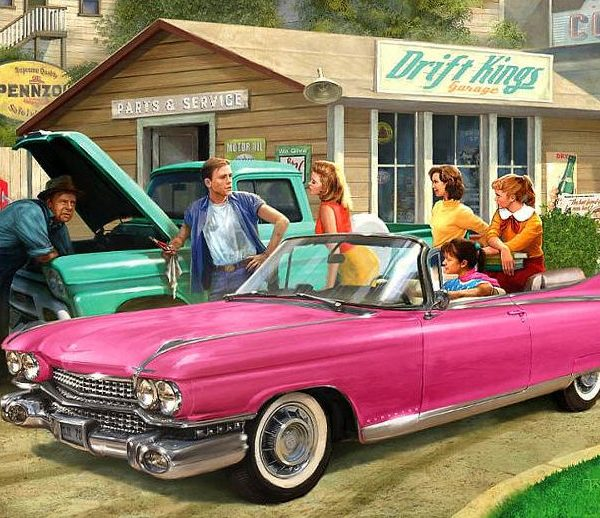 American Classics – The Pink Caddy 1000 Piece Jigsaw Puzzle