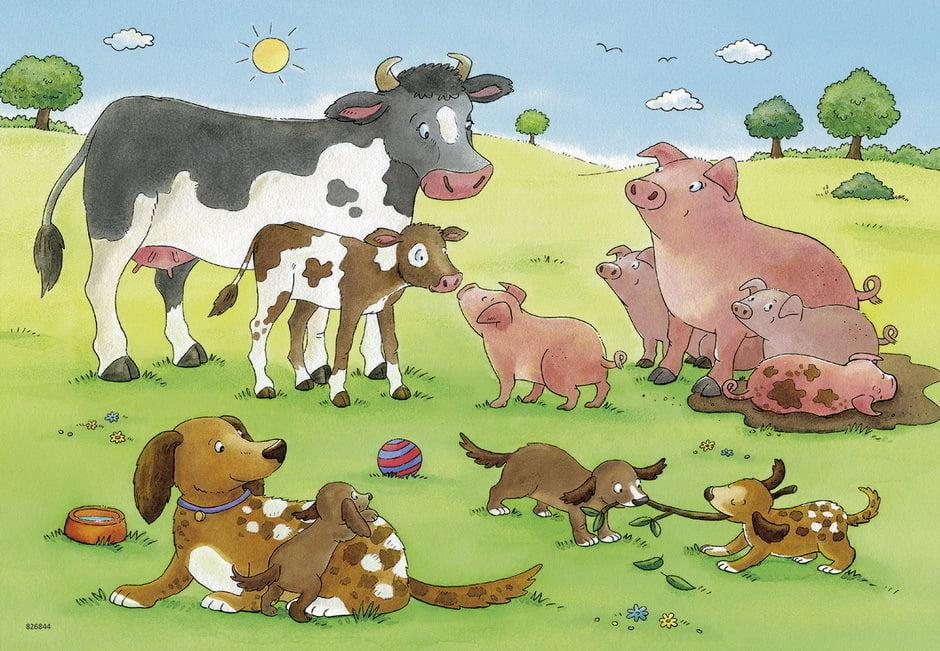 Animals Children 2 x 12 Piece Ravensburger Puzzle