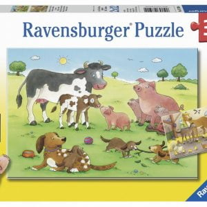 Animals Children 2 x 12 Piece Ravensburger Puzzle