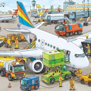 Busy Airport 35 Piece Jigsaw Puzzle