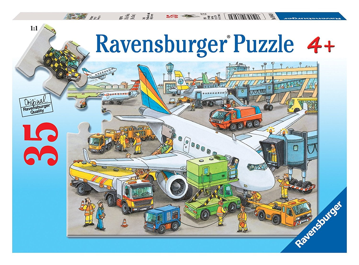 Busy Airport 35 Piece Jigsaw Puzzle By Ravensburger
