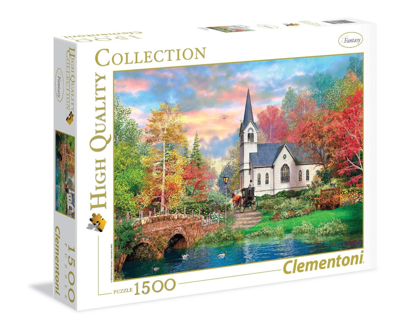 colourful autumn 1500 piece clementoni puzzle. Black Bedroom Furniture Sets. Home Design Ideas