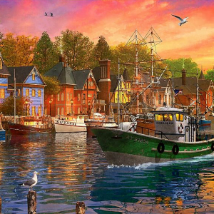 Dominic Davison - Harbour Sunset 1000 Piece Puzzle