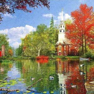 Dominic Davison - Lakeside Reflections 1000 Piece Puzzle