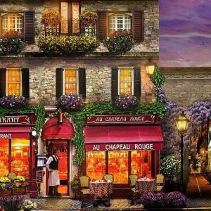 Dominic Davison - The Red Hat Restaurant, Paris 1000 Piece Puzzle