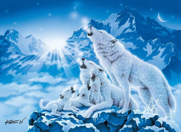 Family of Wolves 1000 Piece Clementoni Puzzle