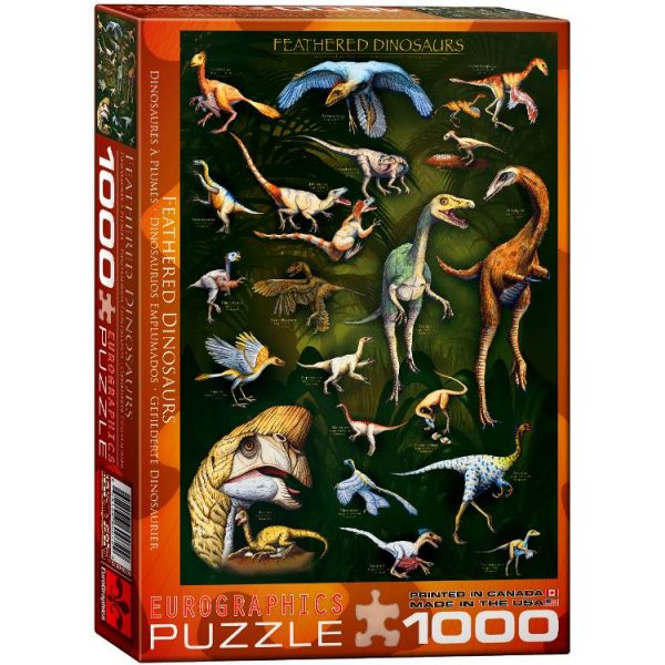 Feathered Dinosaurs 1000 Piece Puzzle