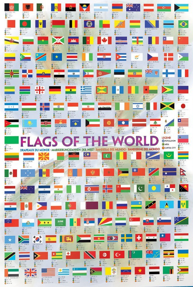 Flags of the World 1000 Piece Eurographics Puzzle