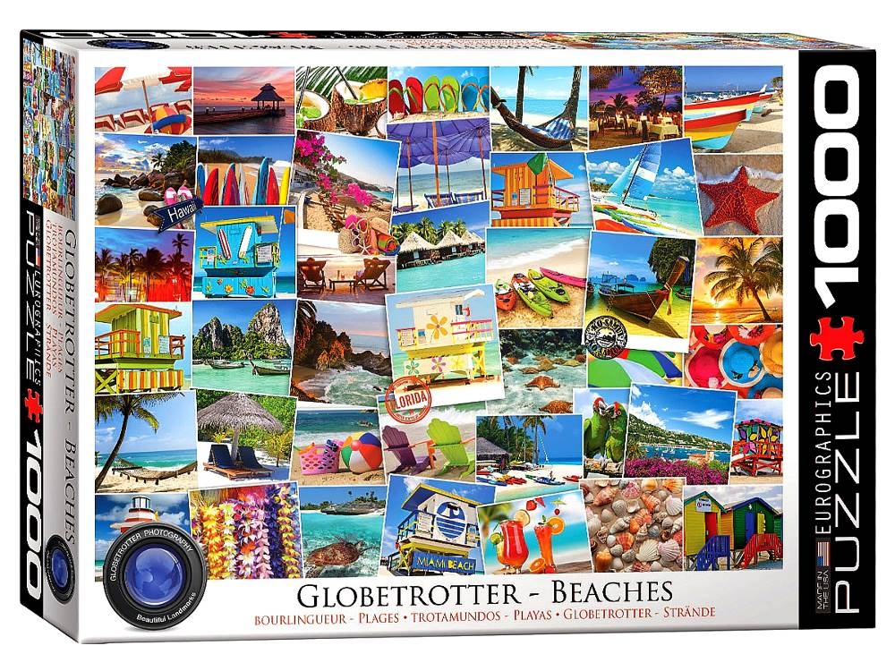 Globetrotter Beaches 1000 Piece Jigsaw Puzzle