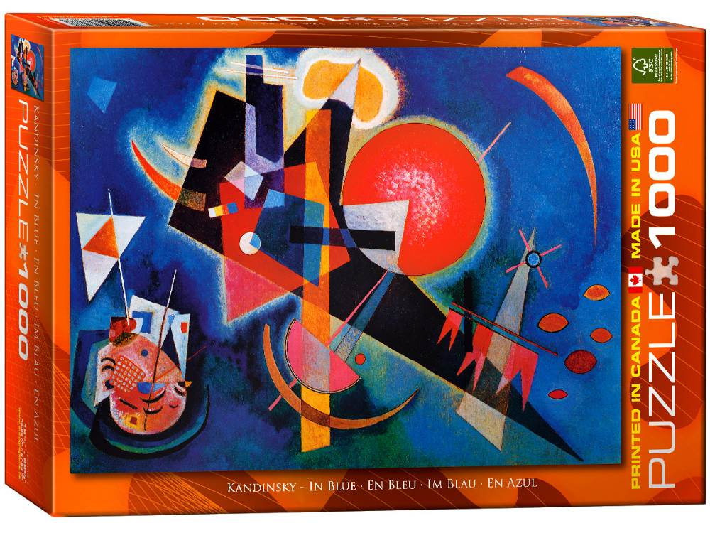 kandinsky in blue 1000 puzzle from eurographics