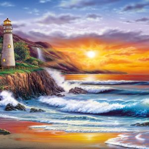 Lighthouse at Sunset 1000 Piece Clementoni Puzzle