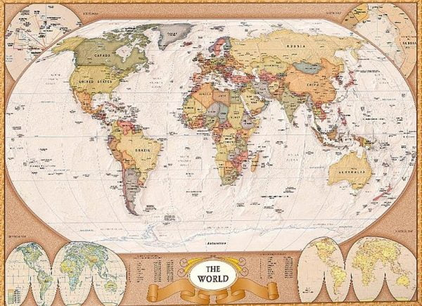 Map of the World 1000 Piece Eurographics Puzzle
