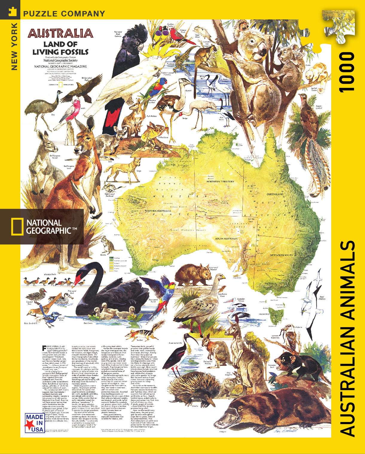 NEW YORK PUZZLE COMPANY - NATIONAL GEOGRAPHIC - AUSTRALIAN ANIMALS ...