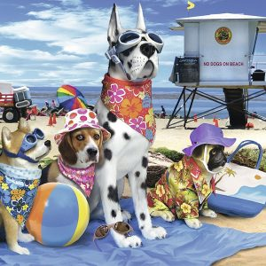 No Dogs on the Beach 100 Piece Puzzle