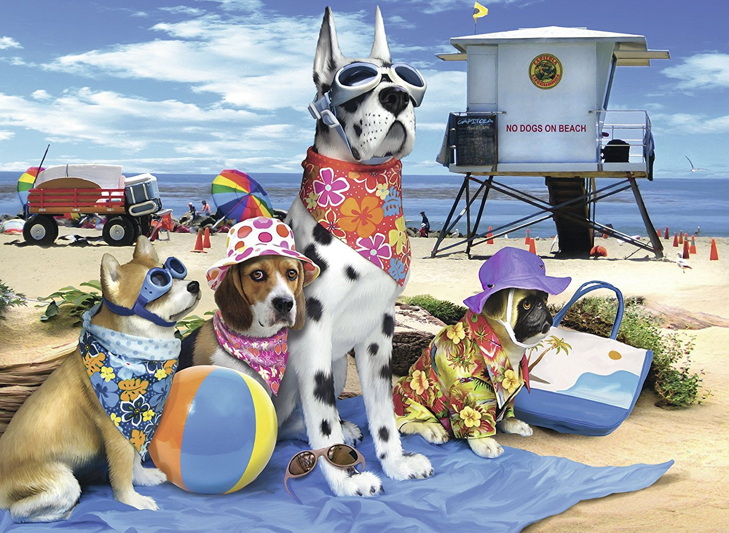 Ravensburger Puzzle No Dogs On The Beach 100 Piece