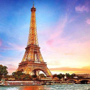 Paris Eiffel Tower 1000 Piece Puzzle