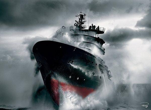 Plisson - Resuce at Sea 1000 Piece Clementoni Puzzle