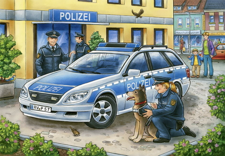 Police and Fire Fighters 2 x 12 Piece Ravensburger Puzzle
