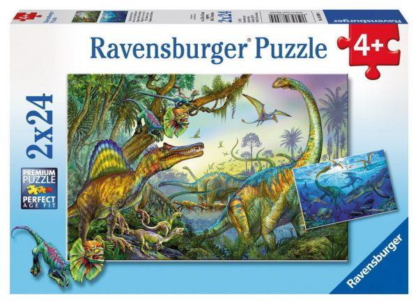 Primeval Giants 2 x 24 Piece Ravensburger Puzzle