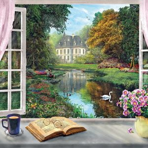 Tea Time View on Garden 500 Piece