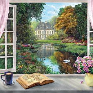 Tea Time View on Garden 500 Piece