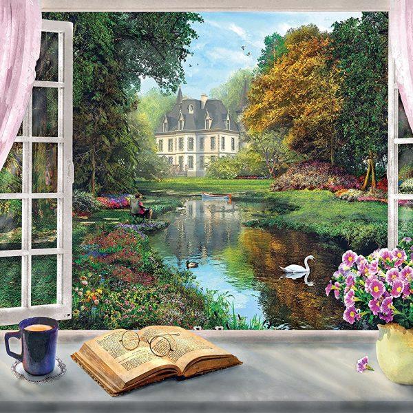 Tea Time View on Garden 500 Piece Clementoni Puzzle 1
