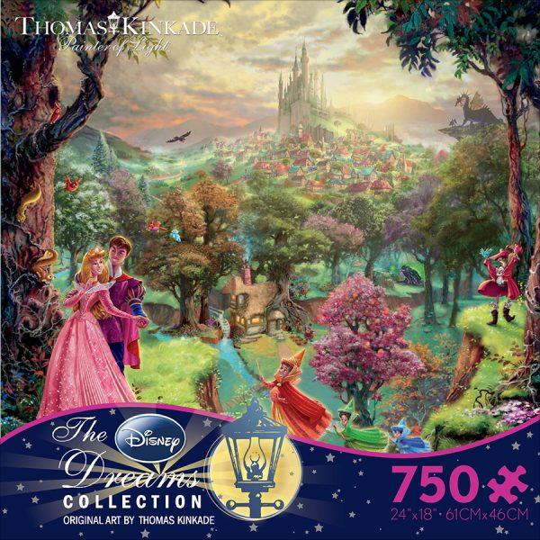 Thomas Kinkade - Sleeping Beauty 750 Piece Disney Puzzle