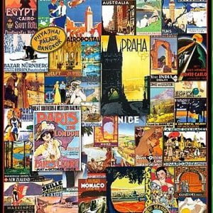 Travel Around the World - Vintage Posters 1000 Piece Puzzle