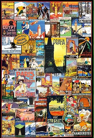 Travel Around the World – Vintage Posters 1000 Piece Puzzle