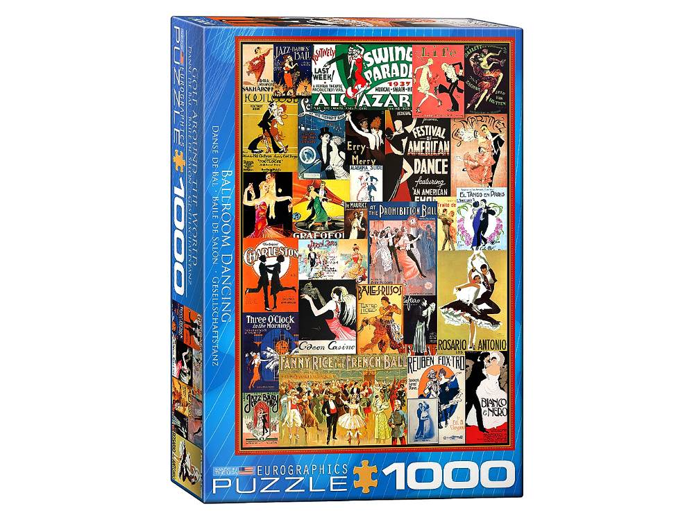 Vintage Posters - Ballroom Dancing 1000 Piece Puzzle