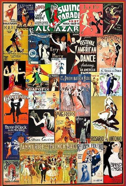 Vintage Posters – Ballroom Dancing 1000 Piece Puzzle