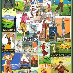 Posters - Golfing Around 1000 Piece Puzzle