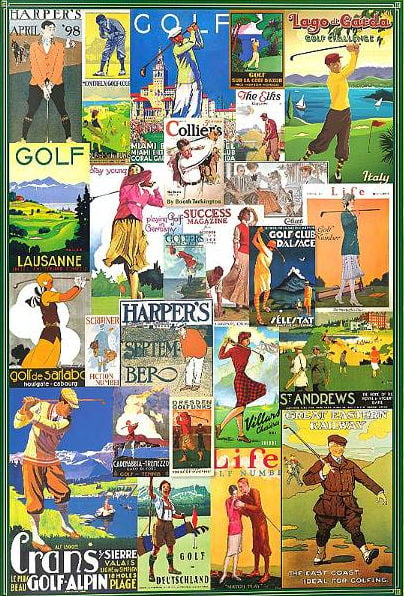 Posters - Golfing Around 1000 Piece Puzzle