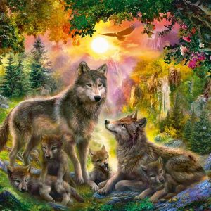 Wolf Family in the Sun 200 Piece Ravensburger Puzzle