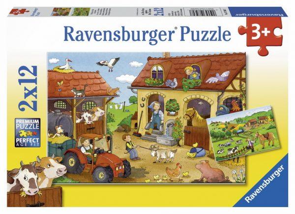 Working in the Farm 2 x 12 Piece Jigsaw Puzzle