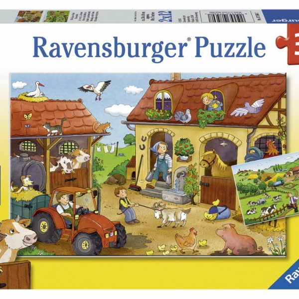 Working in the Farm 2 x 12 Piece Jigsaw Puzzle