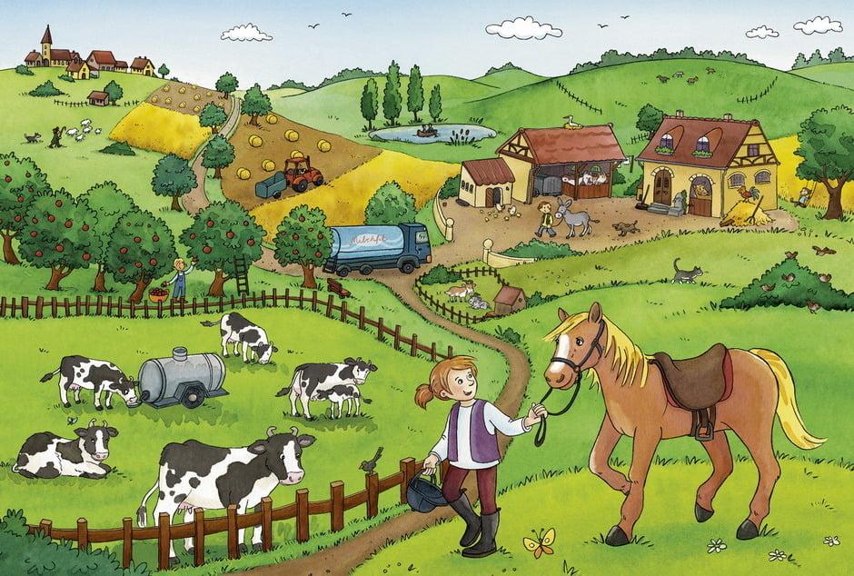 Working on the Farm 2 x 12 Piece Jigsaw Puzzle