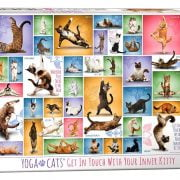 Yoga Cats 1000 Piece Eurographics Jigsaw Puzzle