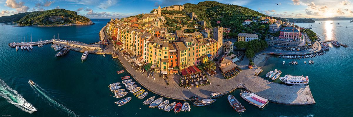 Airpano - Port Venere Italy 1000 Piece Panoramic Puzzle