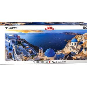 Airpano - Santorini Greece 1000 Piece Panoramic Puzzle